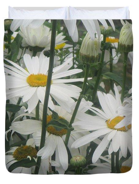 Big White Flowers Duvet Cover