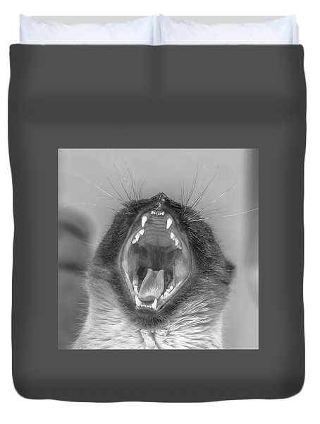 Big Yawn Duvet Cover