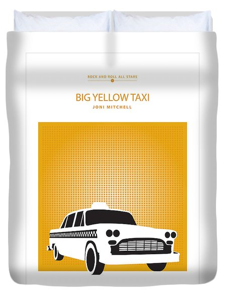 Big Yellow Taxi -- Joni Michel Duvet Cover by David Davies