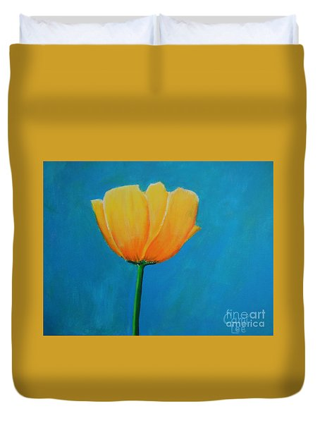 Big Yellow Tulip Duvet Cover