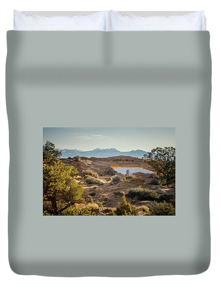 Bighorn Sheep And Mesa Arch Duvet Cover
