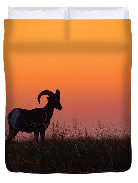 Bighorn Sunset Duvet Cover