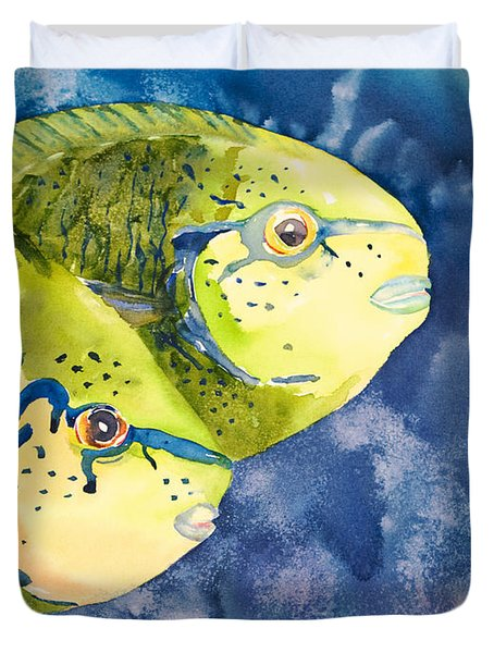 Bignose Unicornfish Duvet Cover by Tanya L Haynes - Printscapes