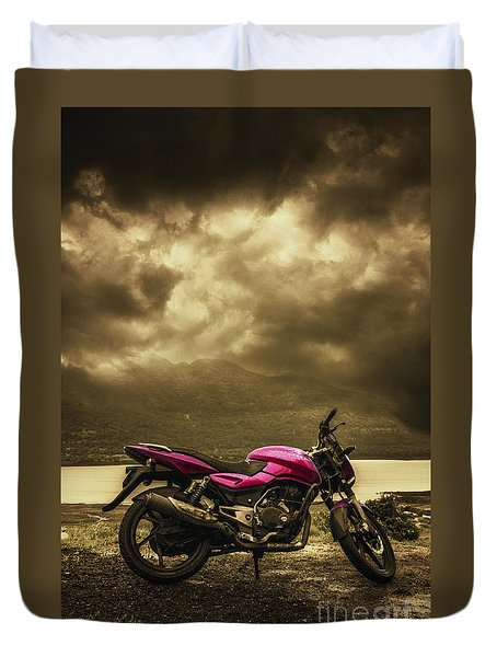 Bike Duvet Cover by Charuhas Images