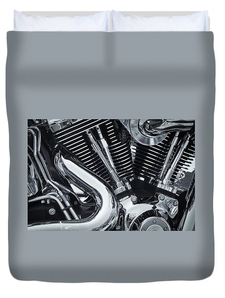 Bike Chrome Duvet Cover