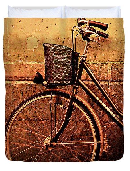 Bicycle At Rest, Paris  Duvet Cover