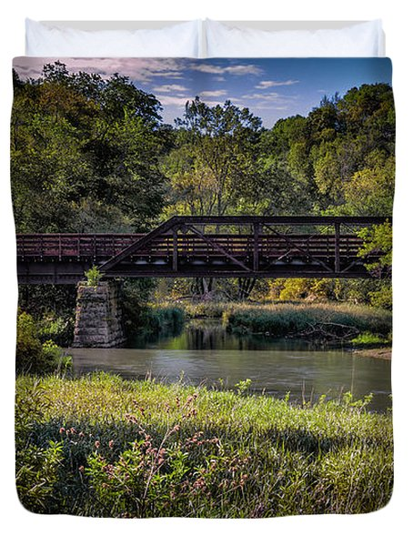 Bike Trail Bridge Near Lanesboro Mn Duvet Cover