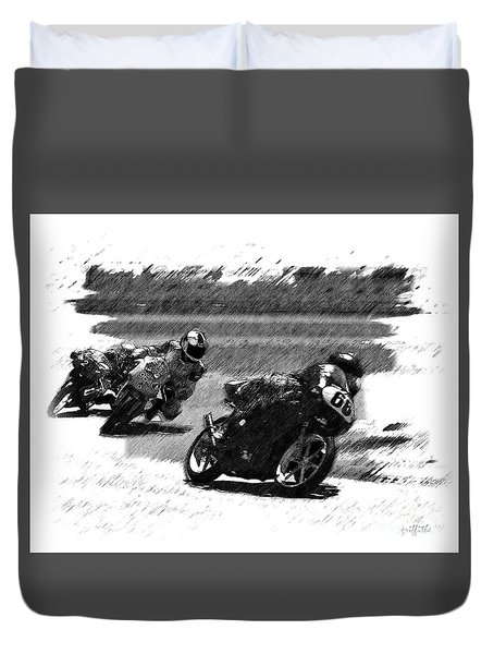 Biker Race Duvet Cover