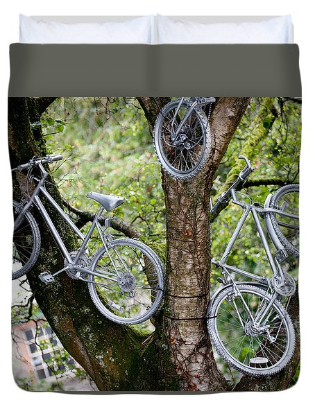 Bikes In A Tree Duvet Cover