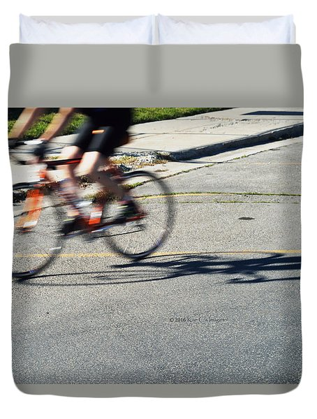 Biking Motion Duvet Cover