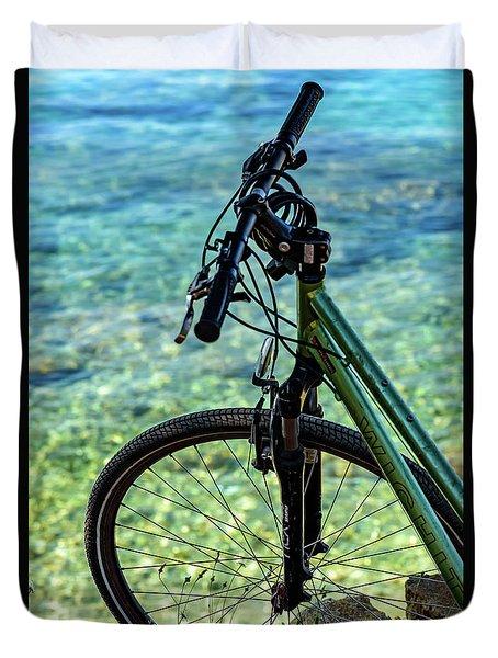 Biking The Rovinj Coastline - Rovinj, Istria, Croatia Duvet Cover