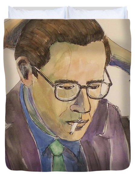 Bill Evans Duvet Cover by Anita Burgermeister