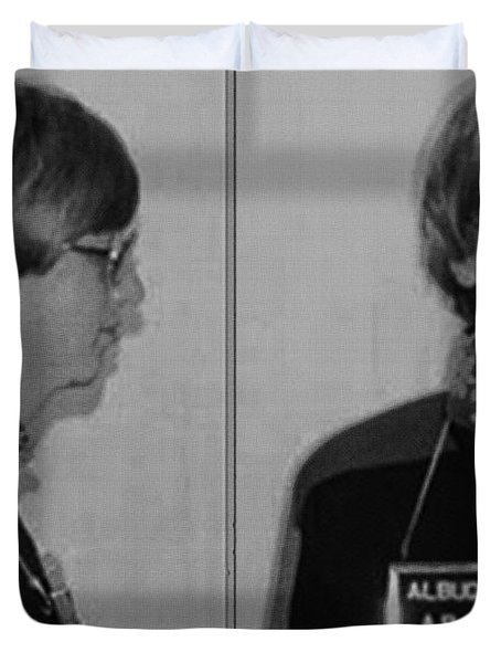 Bill Gates Mug Shot Horizontal Black And White Duvet Cover