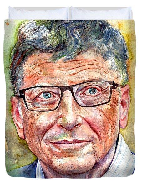 Bill Gates Portrait Duvet Cover
