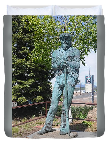 Bill Williams Statue Duvet Cover