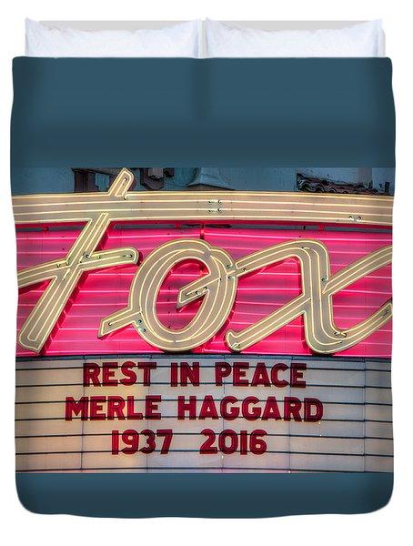 Billboard Merle Haggard Rip Duvet Cover