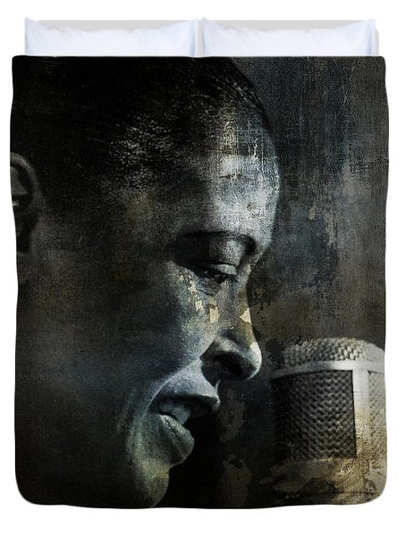 Billie Holiday - All That Jazz Duvet Cover