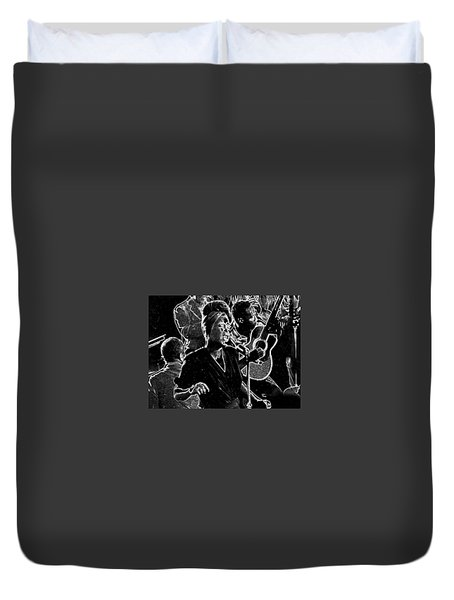 Billie Holiday Duvet Cover by Charles Shoup