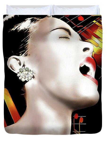 Billie Holiday Duvet Cover by Pennie McCracken