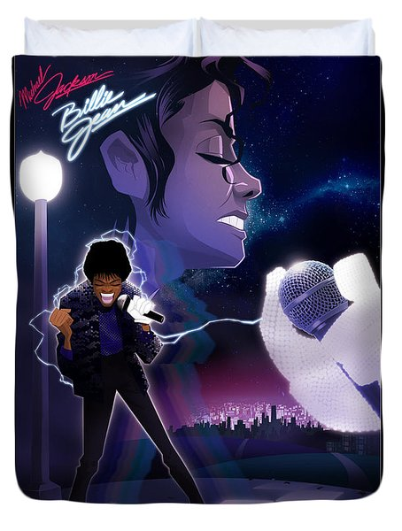Billie Jean 2 Duvet Cover by Nelson dedos Garcia