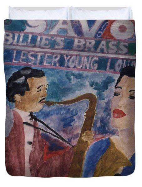 Billie's Brass Band Duvet Cover