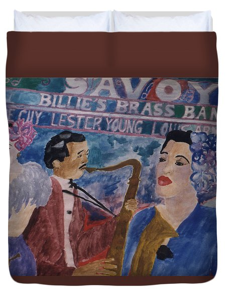 Billie's Brass Band Duvet Cover