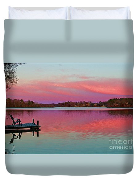 Duvet Cover featuring the photograph Billington Sea Perfection by Amazing Jules