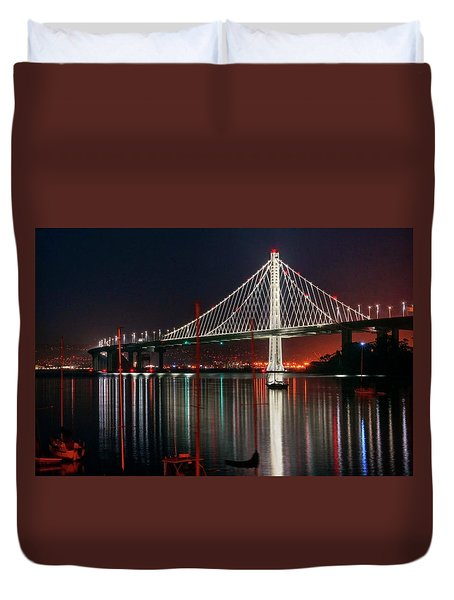 Duvet Cover featuring the photograph Billion Dollar View by Peter Thoeny