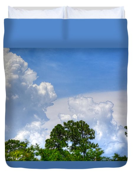 Billowing Clouds 1 Duvet Cover by Cathy Jourdan