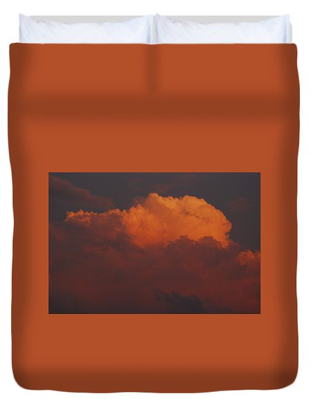 Billowing Clouds Sunset Duvet Cover