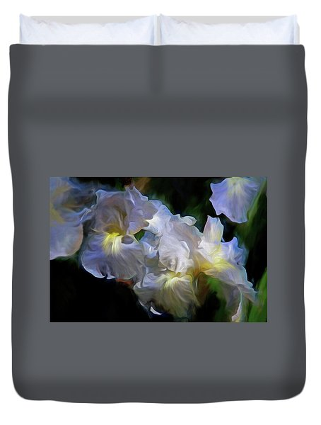 Billowing Irises Duvet Cover