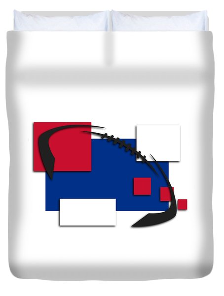 Bills Abstract Shirt Duvet Cover by Joe Hamilton