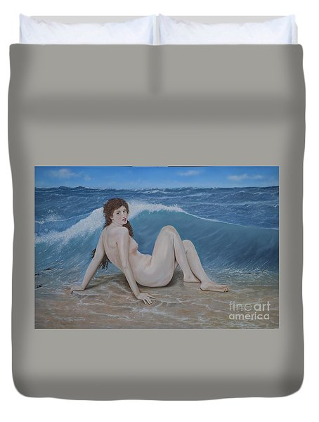 Bill's Wave Duvet Cover by Paul Newcastle