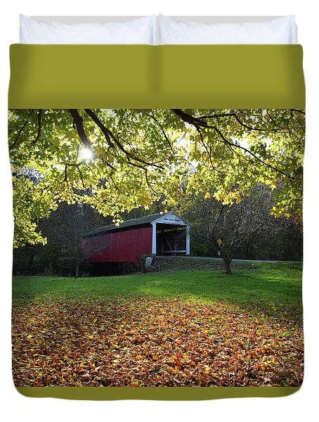 Billy Creek Bridge Duvet Cover by Joanne Coyle