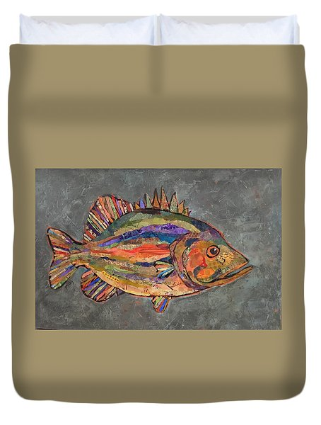 Billy The Bass Duvet Cover