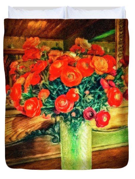 Billy's Flowers Duvet Cover