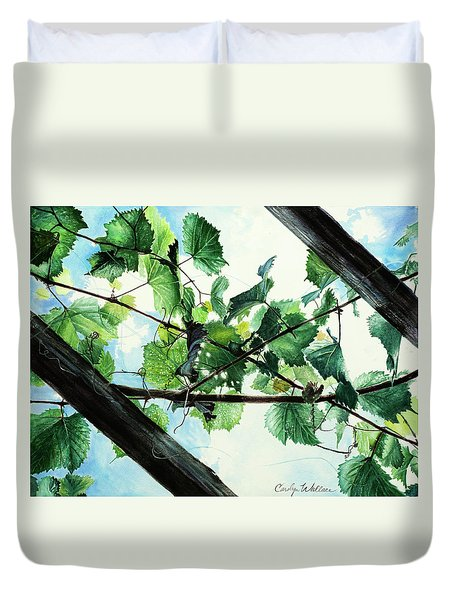 Biltmore Grapevines Overhead Duvet Cover