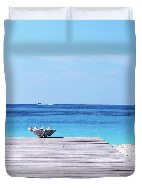 Bimini Beach Club Duvet Cover