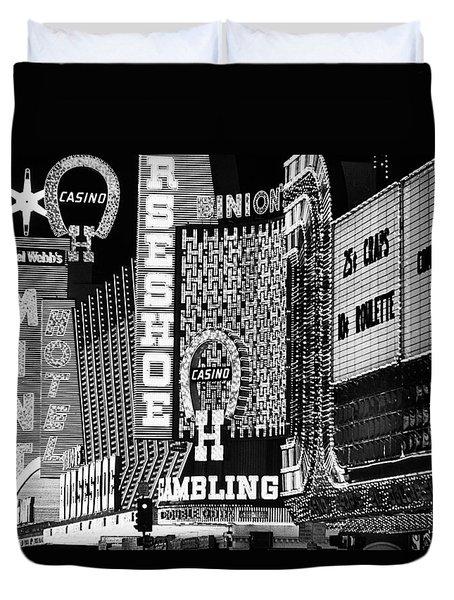Binions Horseshoe Del Webbs Mint Sundance Golden Goose Casinos Las Vegas Nevada 1979 Duvet Cover
