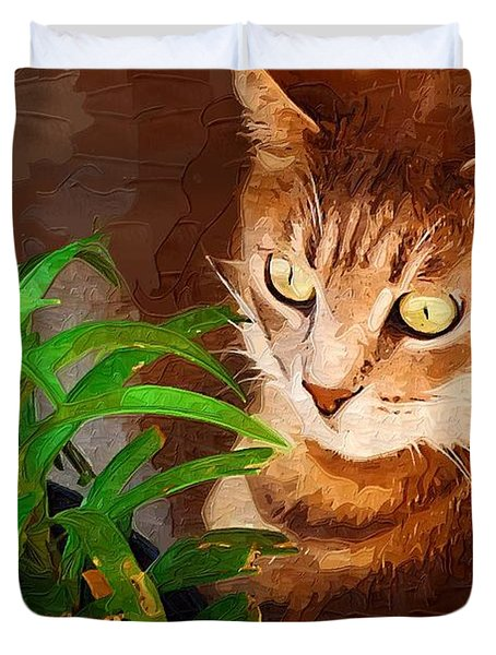 Duvet Cover featuring the photograph Bink by Donna Bentley