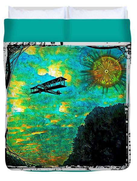 Biplane Duvet Cover by Iowan Stone-Flowers