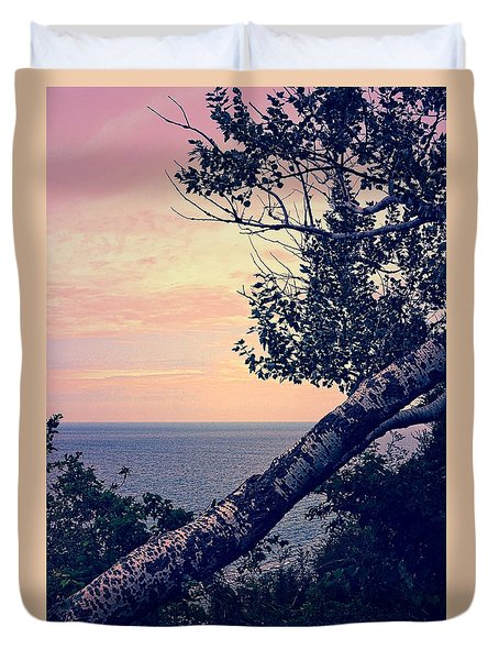 Birch At The Overlook Duvet Cover