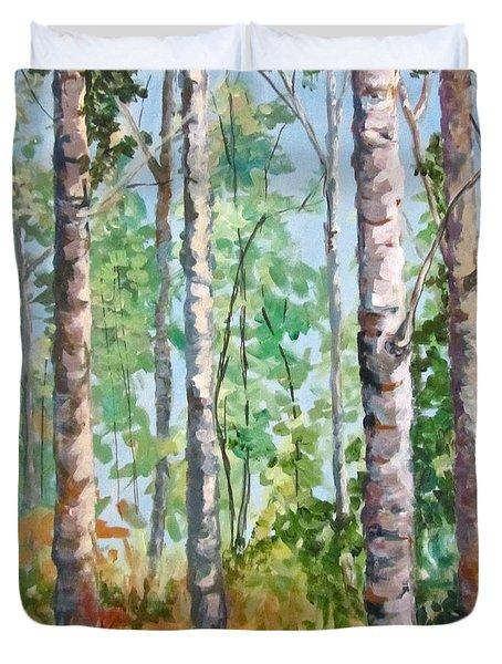 Birch Duvet Cover by Barbara O'Toole