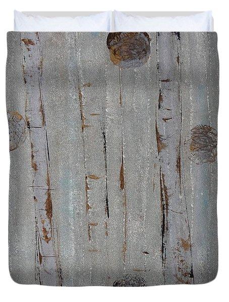 Birch - Fog 2 Duvet Cover