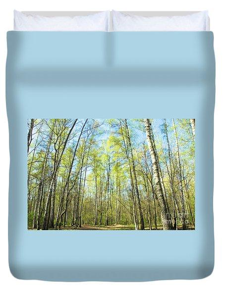 Birch Forest Spring Duvet Cover by Irina Afonskaya
