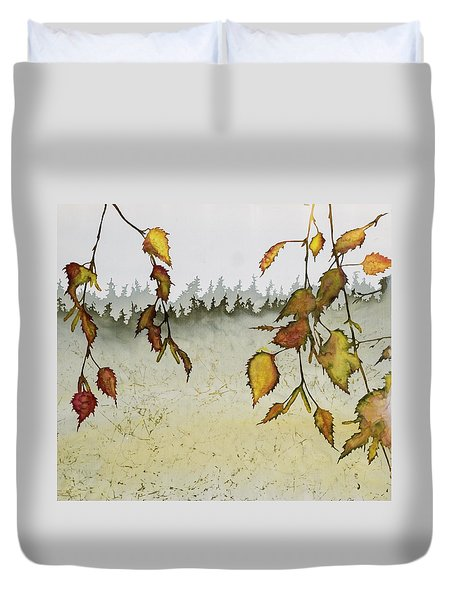 Birch In Autumn Duvet Cover