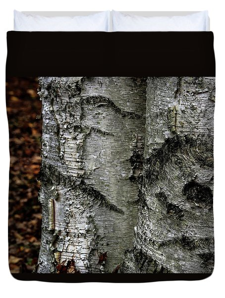 Duvet Cover featuring the photograph Birch by Kenneth Campbell
