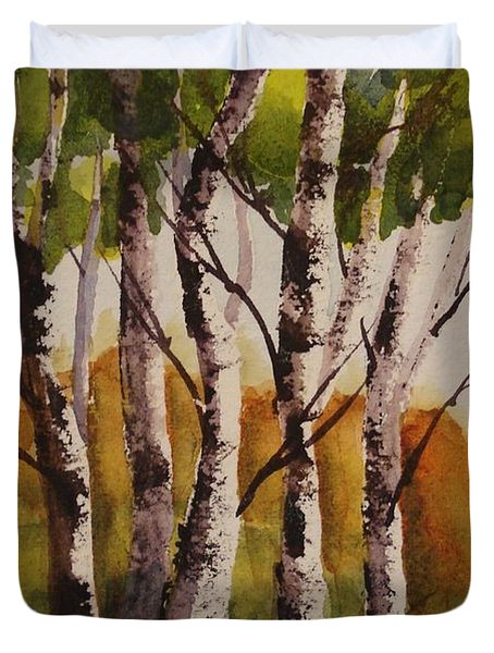 Birch Duvet Cover by Marilyn Jacobson