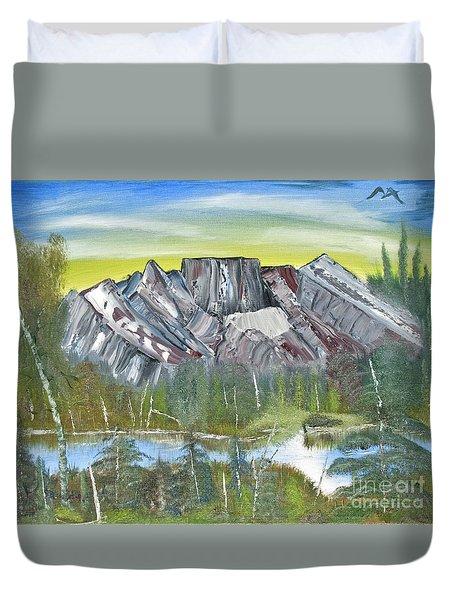 Birch Mountains Duvet Cover