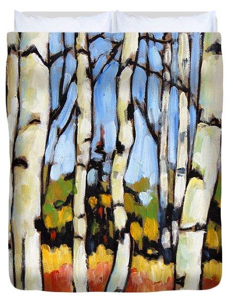 Birch Study By Prankearts Duvet Cover by Richard T Pranke